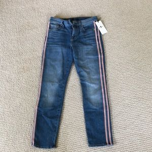 NWT 7 for all mankind pants with 2 pink stripes